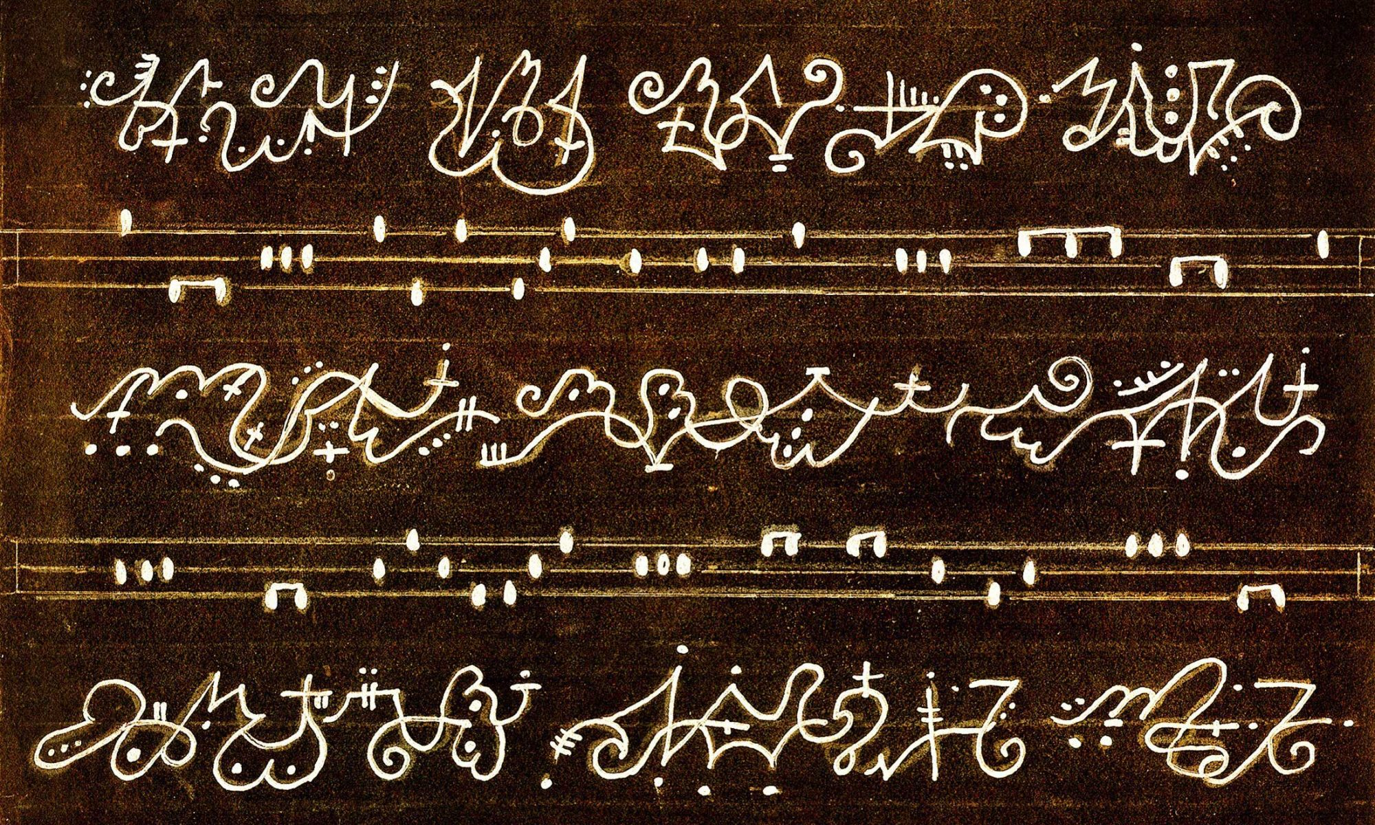 Asemic Writing by Kimm Kiriako