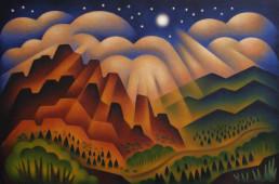 Sushe+Felix+Canyon+of+Light+acrylic+on+panel+24+x+36